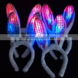 hot sale LED Flashing Light Rabbit Bunny Ear Kid Girl Lady Hair HeadBand Easter Halloween Christmas Party Costume