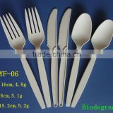 6 inch biodegradable heavy weight plastic spoons forks knife                                                                         Quality Choice