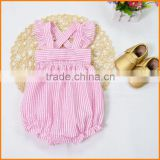 Foreign trade INS eplosion of Europe new cotton hemp cloth tape wrinkles climb clothes piece Romper
