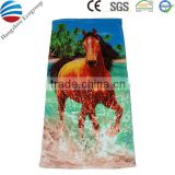 Wholesale digital printing hotel beach towel with inflatable pillow