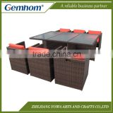 China factory patio rattan furniture cube set