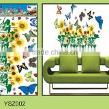 Beautiful living room decoration 3D butterfly wall sticker/pvc free removable wall sticker