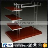 Factory quality stand table metal cloth rack in wood