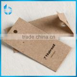 China printing factory custom vellum paper card tag for Chinese and Western style clothes