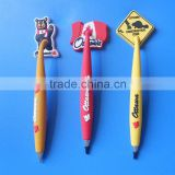Canada Ottawa souvenirs 3d soft PVC rubber magnetic ball pen