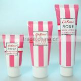 cosmetic body scrub or body lotion or hand cream packing tube