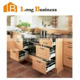 LB-JX1267-2 New design french kitchen cabinet luxury kitchen furniture solid wood kitchen