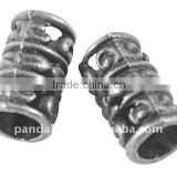 Tibetan Style Beads, Lead Free, Tube, Antique Silver, 13x8mm, hole: 5mm(TIBEB-A0528-AS-LF)