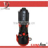 QC-208 12 IN ONE high quality multi function car emergency tool , strong bright torch, screwdriver set, hand tool