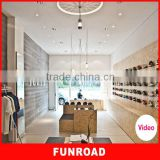 Customized wooden shoes shop interior design for hot sale