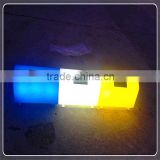 China manufactory solar system plastic LED lighting roadside curbstone