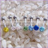 Wholesale High Polish With Epoxy Covering Ball Stainless Steel Ear Cartilage Studs [ET-202]
