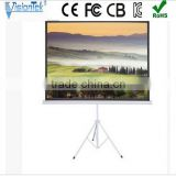 Factory price!! High quality Matt White Motorized projector screen tripod stand 100inch 200inch 300inch 1:1