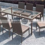 POLY RATTAN DINING SET,OUTDOOR FURNITURE WITH BEST PRICE ,ALUMINUM ,STEEL FRAME IN VIET NAM