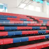Auditorium facility seatway retractable tribune telescopic bleacher folding plastic seating flex grandstand. portable bleacher