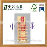 Trade assurance new design locked wooden wine box with acrylic window wooden gift wine case