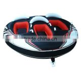 3 rider cold-resistant inflatable snow tube, hard bottom giant snow tube sled for family