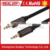 Wholesale high quality 3.5mm coaxial zinc alloy for smartphone male to male audio video av cable