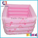 Pink PVC Inflatable Baby Bath Pool