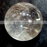 Polished Natural Rock Clear Quartz Crystal Ball Decorative Clear Crystal Spheres
