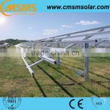 Solar ground mounting racking for panel installation