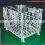 Warehouse Storage Metal Basket/ Industrial Mesh Pallet Cages/Collapsible Warehouse pallet