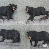 resin black bear 3D fridge magnet