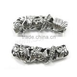 Zinc Alloy Tube Beads antique silver color plated hollow 43x10mm Hole:Approx 7.5mm Sold By PC