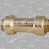 251-12 brass reducing tee compression fitting (PUSH FITTING BRASS OV CHECK VALVE (PUSH X PUSH))
