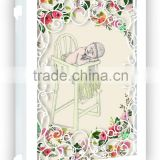 2015 new design paper laser cutting new born baby invitation greeting cards