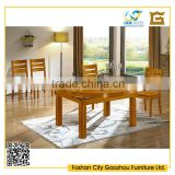 Hotsale round extendable extra long wooden dining table