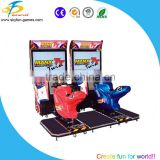 Indoor sport Coin operated car raing, electric motor racing, arcade racing machine equipment