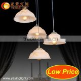 Low cost lighted chandeliers swan,opal glass for lamp,wrought iron pendant lamp