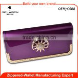 Factory Wholesale African Culture Style Soft Leather Bill Wallet for women