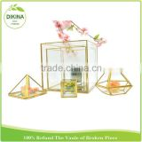 Cut Cube Triangle Dimond Square Large Round Vase :: Hanging Planter Terrarium Container :: crystal glass 2 inch flower pots