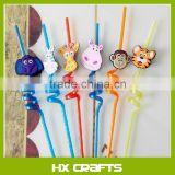 2016 new cute drinking straw charms cover,straw 2D/D decoration charms