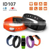 ID107 Bluetooth Smart Bracelet Heart Rate SmartBand Sport Wristband Passometer For Iphone Android IOS pk mi band 2 1s