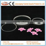 clear optical quartz glass disc