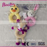 Special Cute High-Quality Supersoft Animal Plush Baby Handbells for Wholesale