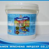 Food grade square plastic 10L bucket package Tablet fish feed