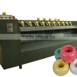Semi-automatic 10 heads pp raffia twine ball making machine