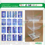 shop fitting 3 baskets toy shop display stand