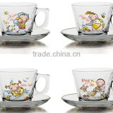 6oz 8oz 9oz 10oz 12oz glass kids mug glass milk mug children glass set