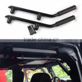 Black Solid Steel Rear Grab Handles Interior Side Grab Handle Bar for Jeep Wrangler Jk Rubicon