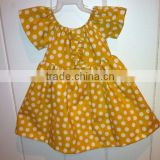 Ginger and white polka dot smocked dress baby girl party dress frock design baby polka dot dress