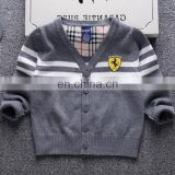 100%Cotton cardigan style boys kid sweater for autumn