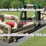 Cheap boot camp inflatable obstacle course, inflatable obstacle course for sale ID-OB031