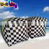 plato pvc tarpaulin chequered inflatable buoy for floating