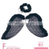 super chicken wings wholesale Feather Black Angel Wing with Halo
