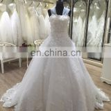 sweep train lace ball gown wedding dress beach casual 2017